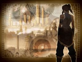 Avatar Legend of Korra wall by worldstraveller