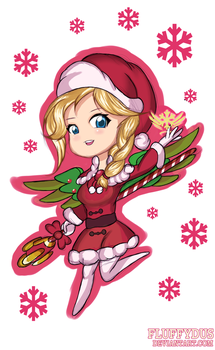 Chibiwatch: Christmas Mercy by FluffyDus