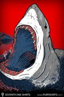 Greedy Shark iPhone Wallpaper by seventhfury