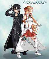 Asuna and Kirito by LinoNatsumiHUN