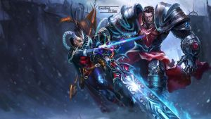 LoL - Vayne Garen splash by ConShinn