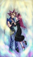 Shora and Yami Yugi by Alarimaa