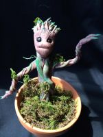 Baby Groot, all the time by Quiscula