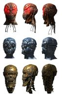 Droid heads by toneloperu