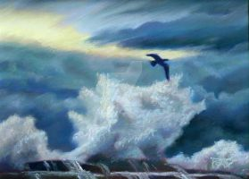 Sea Storm by robertsloan2