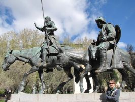 Don Quixote and Sancho Panza by eillahwolf