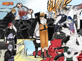 Team Naruto Vs. Hebi by dothakz