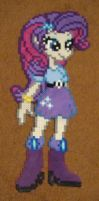 Rarity Equestria Girls perler craft by Pika-Robo