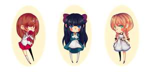 RPGmaker horror Chibis by BottleWonderland