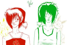 red and green .:merry xmas:. by ToxicHikaru
