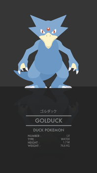 Golduck by WEAPONIX