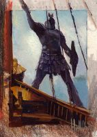 game of thrones season 5 sketch card 35 by charles-hall