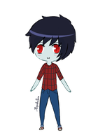 Marshall lee chibi by veronica1134