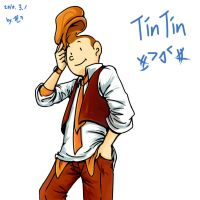 Drawing TinTin by kj1241