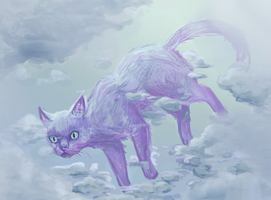 Cloud cat by Demon-Dolphin