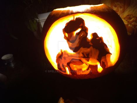 Halo Reach Noble Six Pumpkin Carving by Spelleroid