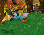 Sleepy fall by FoxMew4044