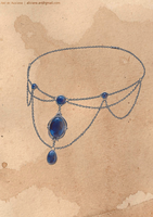 The Sapphire Necklace by Aliciane