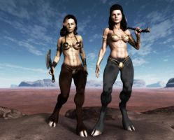 Amazonian Fauns by DLB72