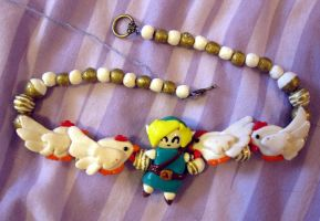 Link and Cuccos necklace II by Gothic-Enchantress