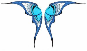 Simple Tribal Butterfly Wings by Ashes360