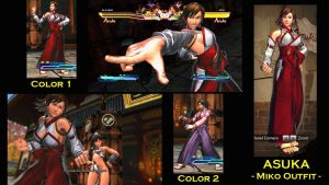 SFxT Mod: Asuka - Miko Outfit by moedjoer