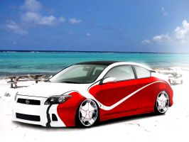 Scion on the beach by Morfiuss