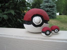 Pokeball props by team-kataang