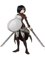 Iron Artist Fail: Maternal Mikasa by RiddleAellinea