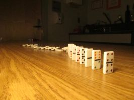Photography - Falling Dominoes 2 by watermelemon