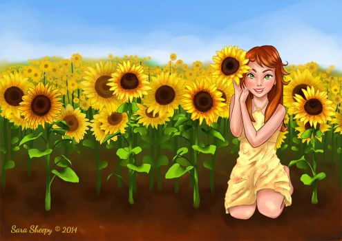 Sunflower Kiss by SaraSheepy