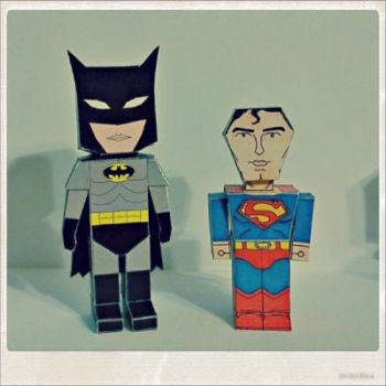 batman and superman by dumitrucatalin
