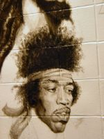 school mural: Jimi Hendrix by deadhead16mb