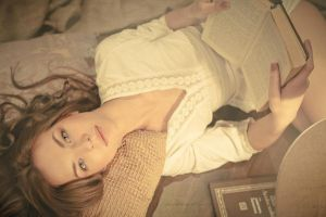 Girl reading a book (3) by ImaginationPhotos