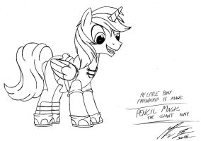 MLP:FiM - Pencil Magic the giant pony by MortenEng21