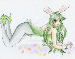 Lady Palutena: The Sexy Bunny 2 by CutieAngel999