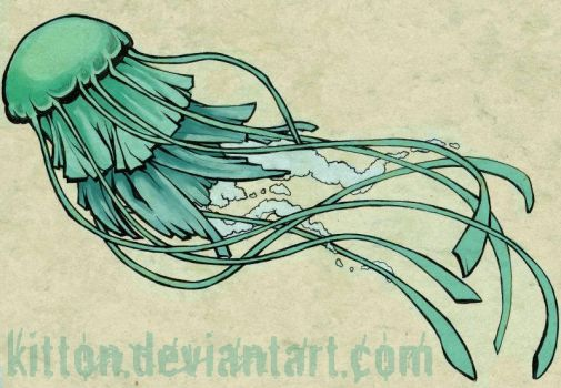 tatoo design: jellyfish by kitton