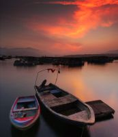 Magic Hour with Boat by johnchan
