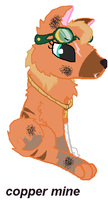 Copper-mine the wolf by Goldenecho