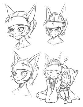 Aavi Faces by Icyshadowlord