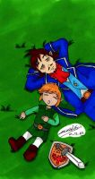 TLOZ - Link and Linebeck by KeikoWolfgirl