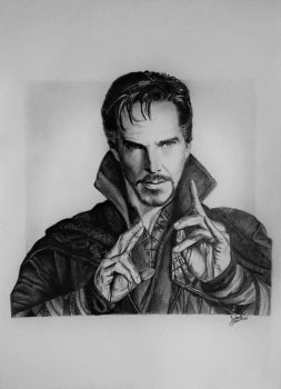 Doctor Strange (drawing) by JakubQaazAdamski