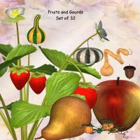 Fruits and Gourds by oldhippieart