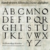 Hand Drawn Durer Alphabet by daniel-nagy