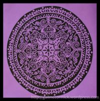 Mandalas 10 - Fun with Purple by zippybluedwarf