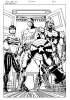 The Ultimates Page 2 Inks by michael-bowers