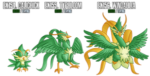 Fakemon: EX154-EX156 Alternate Grass starters 2 by MTC-Studios