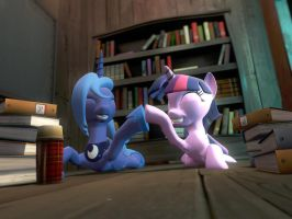 Reading books is good together by Pyromanik