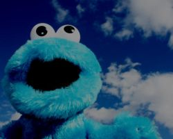 Cookie Monster in heaven by BluebellDawn