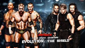 WWE Payback - The Shield vs. Evolution by MarcusMarcel